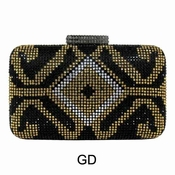 Collective Designs - Crystal Minaudiere Gold