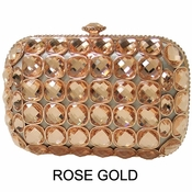 Collective Designs - Crystal Minaudiere Rose Gold