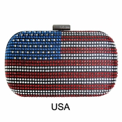 Collective Designs - Usa Crystal Box Clutch