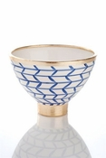 Contempo Collection, Decorative Geometic Ceramic Footed Bowl