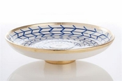 Contempo Collection, Decorative Geometric Ceramic Footed Plate