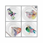 CORFU APPETIZER PLATE SET OF 4 - CLOSEOUT