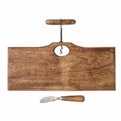 Mud Pie Corkscrew Handle Board Set - CLOSEOUT