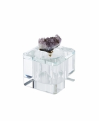 Crystal Covered Box with Agate Purple