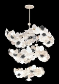 Daum Crystal Chandelier 448 White Grey Roses