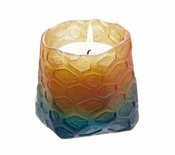 Daum Crystal Corals Candle Pot - Night Blue Amber