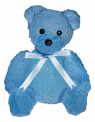 Daum Crystal Doudours Teddy Bear Blue by Serge Mansau - Limited Edition of 375