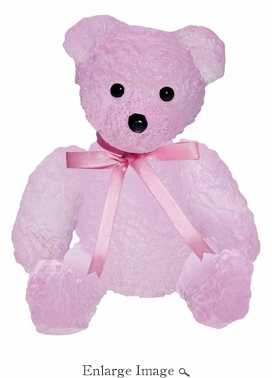 Daum Crystal Doudours Teddy Bear Rose by Serge Mansau - Limited Edition of 375