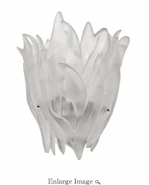 Daum Crystal Floral Wall Lamp - White