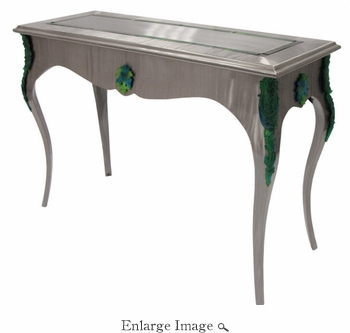 Daum Crystal Louis Xv Console Table