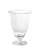 Daum Crystal Louis XV White Water Glass