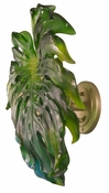 Daum Crystal Monstera Emilio Robba Wall Leaf Green Small