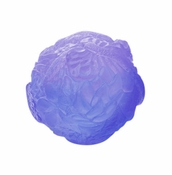 Daum Crystal Paperweight Blue Lilac