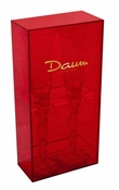 Daum Crystal Red Box with Two Louis XV White Champagne Flutes