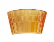 Daum Crystal Rhythms Wall Lamp - Amber