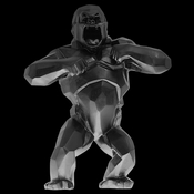 Daum Crystal Richard Orlinski's Black Wild Kong - Limited Edition of 99