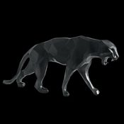 Daum Crystal Richard Orlinski's Black Wild Panther - Limited Edition of 99