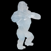 Daum Crystal Richard Orlinski's White Wild Kong - Limited Edition of 99