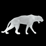 Daum Crystal Richard Orlinski's White Wild Panther - Limited Edition of 99