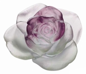 Daum Crystal Rose Passion - Green & Pink Flower