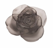 Daum Crystal Rose Passion Grey Flower