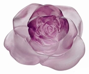 Daum Crystal Rose Passion - Pink Flower