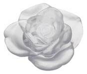 Daum Crystal Rose Passion - White Flower