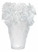 Daum Crystal Rose Passion - White Vase