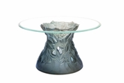 Daum Crystal Vegetal Coffee Table - Grey Blue
