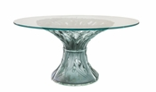 Daum Crystal Vegetal Table - Grey Blue