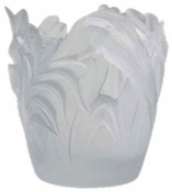 Daum Crystal White Small Jungle Vase