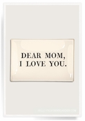 Dear Mom I Love You Decoupage Glass 5x8 Tray