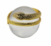 Decorative Glass Orb with Snake Gold