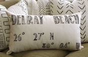 Delray Beach Custom Made Cooridinates Pillow