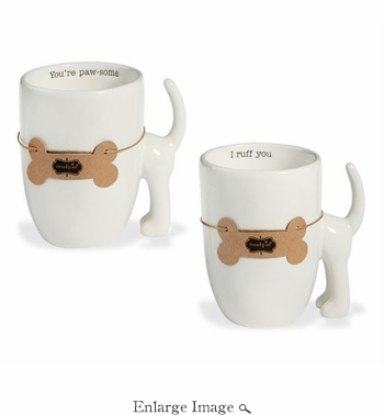 Dog Tail Mugs, Set of 2 - Special Intro Offer