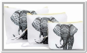 Elephant 3 Pc Pouch Set