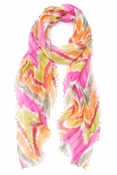 Elizabeth Gillette Ripley Hand Screen Printed Chevron Scarf Multi - CLOSEOUT