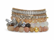 Erimish Bracelet Set Butterscotch Bracelet Stack (RETIRED)