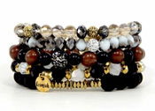 Erimish Bracelet Set Coal Bracelet Stack - WEEKLY SPECIAL OFFER
