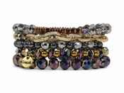 Erimish Bracelet Set Metals Dark Bracelet Stack - SPECIAL OFFER