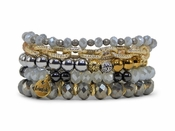 Erimish Bracelet Set Metals Light Bracelet Stack - SPECIAL OFFER