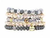 Erimish Bracelet Set Latte Bracelet Stack - SPECIAL OFFER