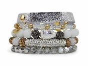 Erimish Bracelet Set Marshmallow Bracelet Stack - WEEKLY SPECIAL OFFER