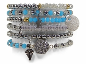SOLD OUT Erimish Bracelet Set Pinata Turquoise Bracelet Stack