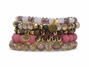 Erimish Bracelet Set Spiced Berry Bracelet Stack