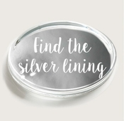 Find The Silver Lining Silver Foil Crystal Oval Paperweight