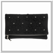 Flowers Convertible Clutch Black  - CLOSEOUT