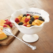 SOLD OUT - Mud Pie Fruit Pedestal Bowl Set
