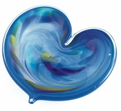 Glass Eye Art Glass Affection Heart Blue