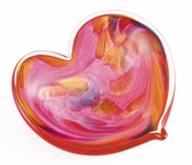 Glass Eye Art Glass Affection Heart Pink